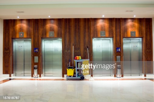 Cleaning Cart at the elevators
