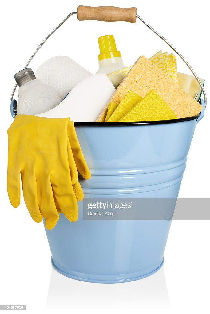 Cleaning equipment, gloves : Stock Photo