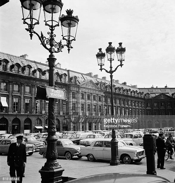 Cleaning Of the Place Vendôme on Minister of Culture André Malraux's initiative in Paris France on May 7 1962