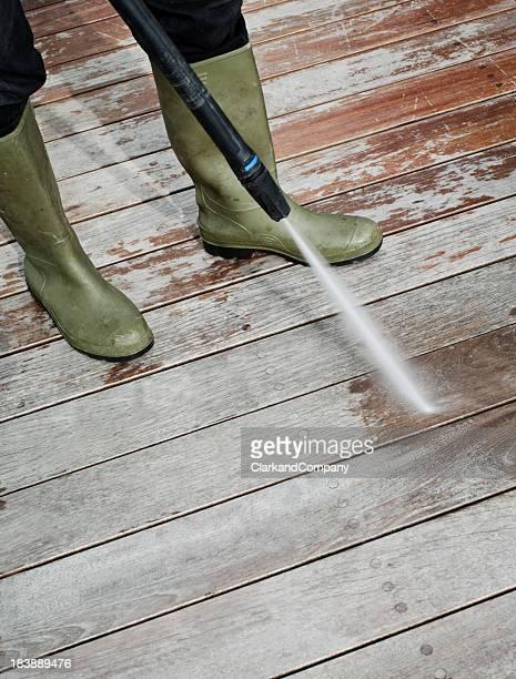 Reinigung Patio Bodenbelags
