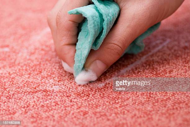 cleaning red carpet - Fleck entfernen
