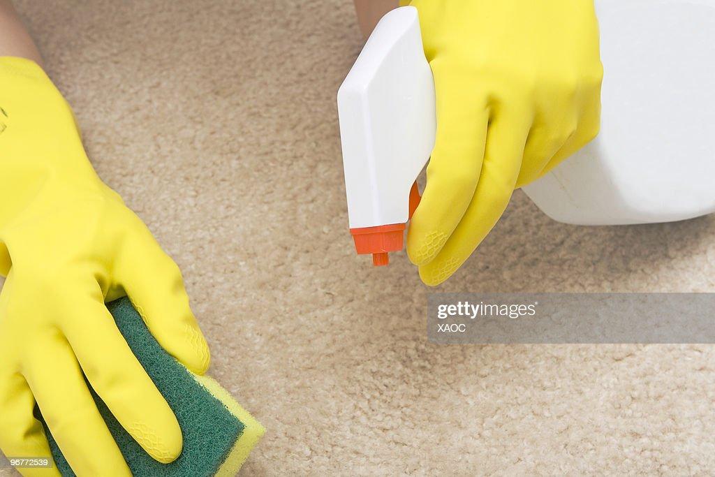 Отмыть ковер от пятен в домашних условиях