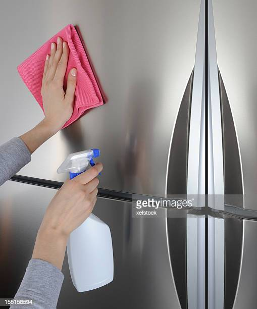 Cleaning surface of refrigerator
