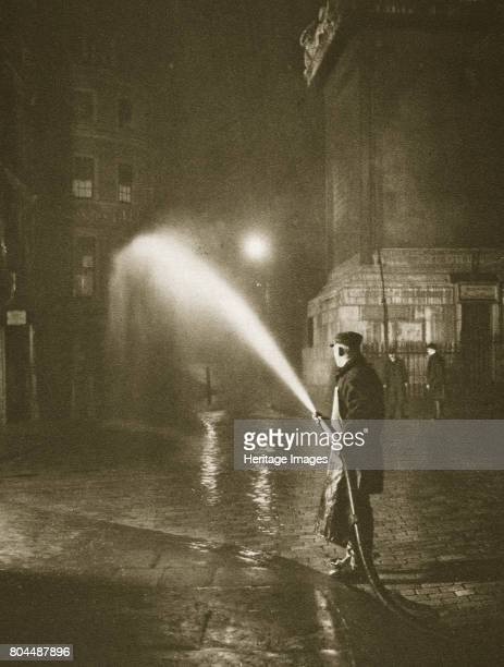 Cleaning the streets of Billingsgate London 20th century London's main roads received a thorough clean at about 2 am every morning Hoses were fitted...