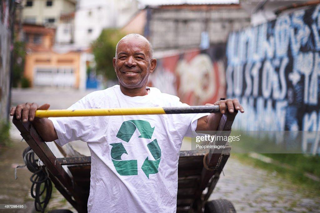 Reinigung unserer Stadt : Stock-Foto