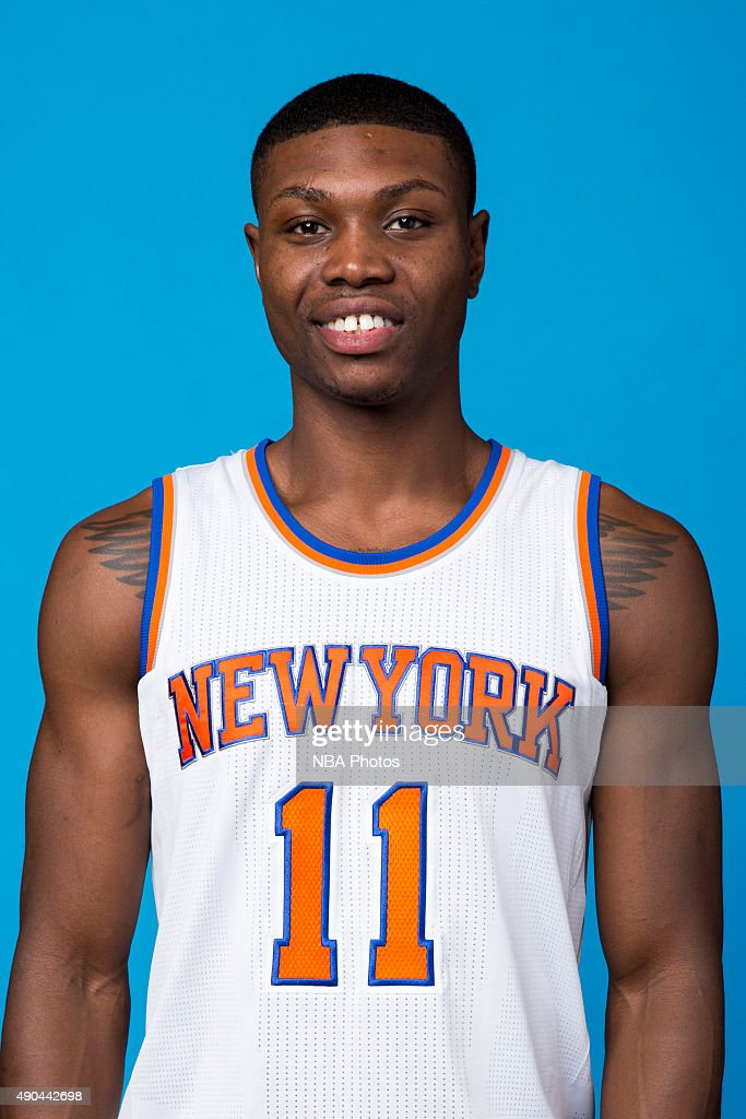 <a gi-track='captionPersonalityLinkClicked' href=/galleries/search?phrase=Cleanthony+Early&family=editorial&specificpeople=10064686 ng-click='$event.stopPropagation()'>Cleanthony Early</a> #11 of the New York Knicks poses for a head shot at media day at the MSG Training Facility in Greenburgh, New York on September 28, 2015.