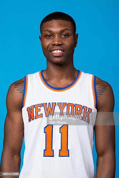 Cleanthony Early of the New York Knicks poses for a head shot at media day at the MSG Training Facility in Greenburgh New York on September 28 2015...