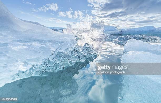 Clear blue Iceberg lagoon