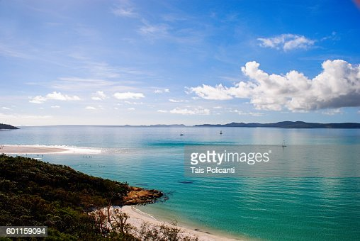 Clear blue sea at Whitehaven beach, Whitsunday Islands, Australia, Oceania
