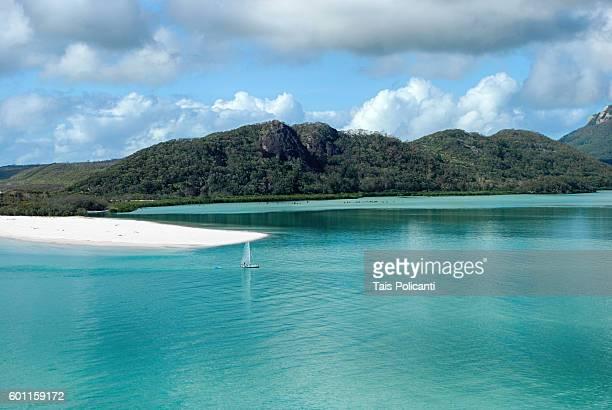 Clear blue sea at Whitehaven beach, Whitsunday Islands, Australia, Oceania