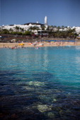 Clear blue water at Playa Blanca beach on April 13 2014 in Lanzarote Spain Lanzarote where British Prime Minister David Cameron and his wife Samantha...