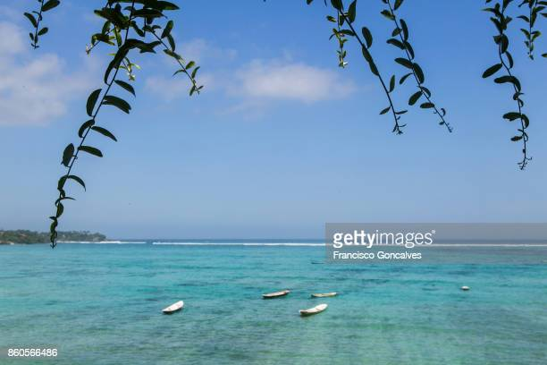 Clear blue waters of Nusa Lembongan on a sunny day