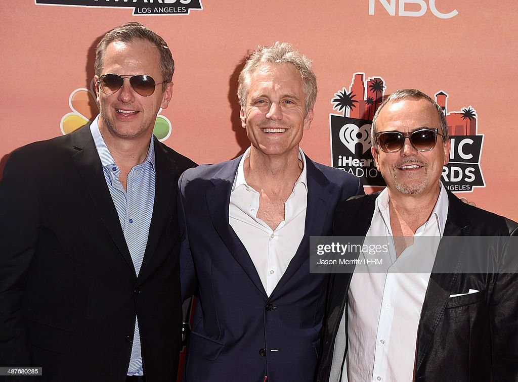 Clear Channel National Programming Platforms President Tom Poleman, Clear Channel Media Holdings Entertainment Enterprises President John Sykes and Done & Dusted Inc. President Ian Stewart attend the 2014 iHeartRadio Music Awards held at The Shrine Auditorium on May 1, 2014 in Los Angeles, California. iHeartRadio Music Awards are being broadcast live on NBC.
