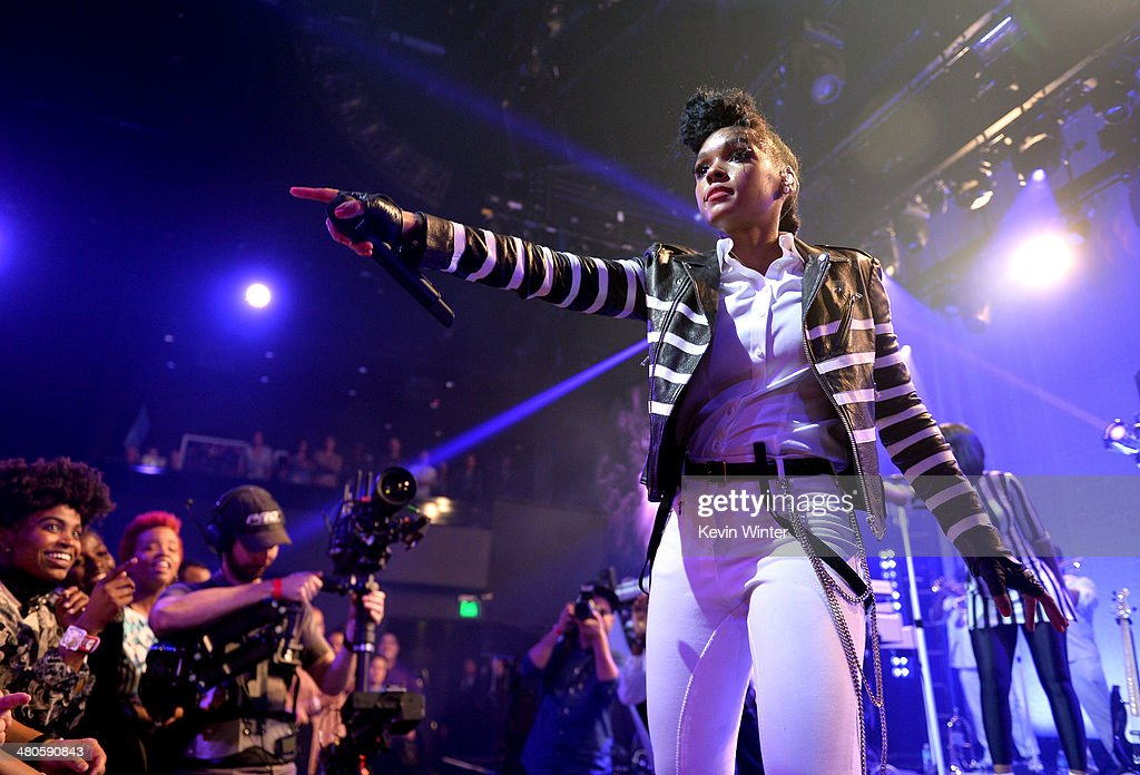 Clear Channel presents an exclusive performance with <a gi-track='captionPersonalityLinkClicked' href=/galleries/search?phrase=Janelle+Monae&family=editorial&specificpeople=715847 ng-click='$event.stopPropagation()'>Janelle Monae</a> as part of the iHeartRadio Live series at the iHeartRadio Theater on March 25, 2014 in Burbank, California.