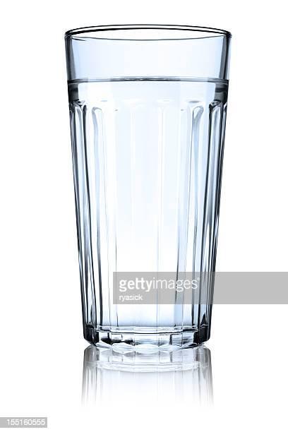 クリアリブ編みガラス充填、水、反射型