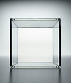 Clear glass cube