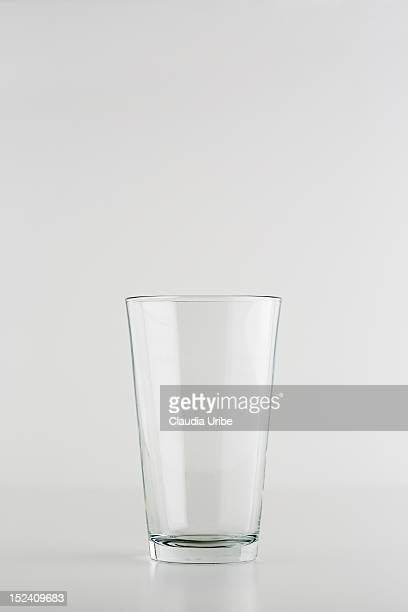 Clear glass on neutral background