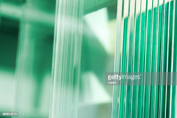 Clear glass with green scenery in background