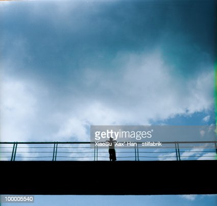Clear mind, clouded sky : Stock Photo