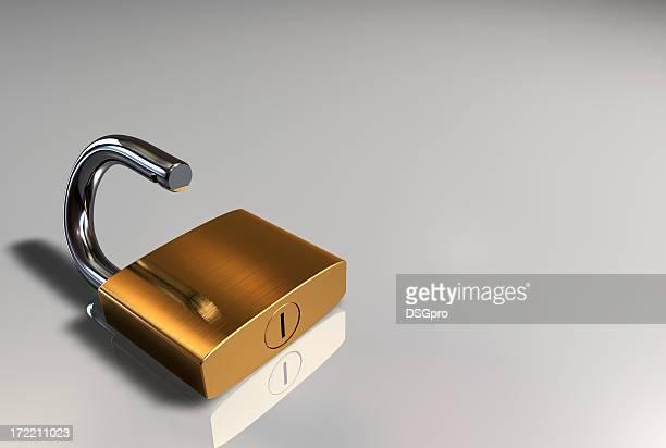 Clear padlock