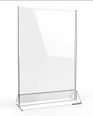 Clear plastic and acrylic  table talkers promotional upright menu table tent top sign holder 11x8 table menu card display stand picture frame for mock up and template design.