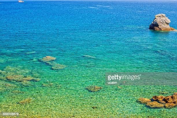 Clear sea water in Skopelos