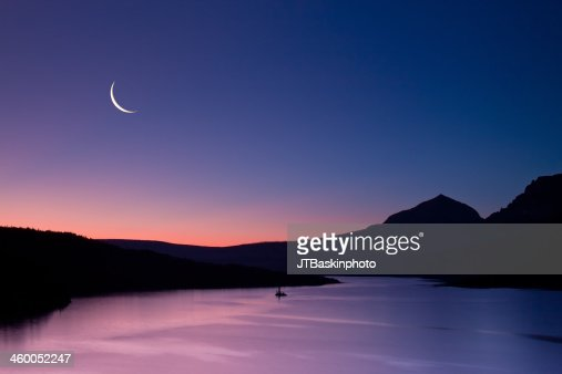 Clear Skies and the Crescent Moon