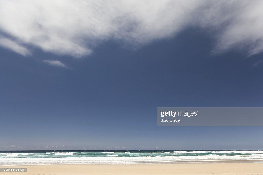Clear sky over beach and sea : Stock Photo
