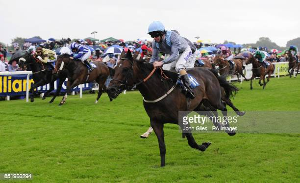 Clear Spring and Tom Eaves win the William Hill Silver Trophy during the William Hill Great StWilfrid Handicap day at Ripon Racecourse Ripon