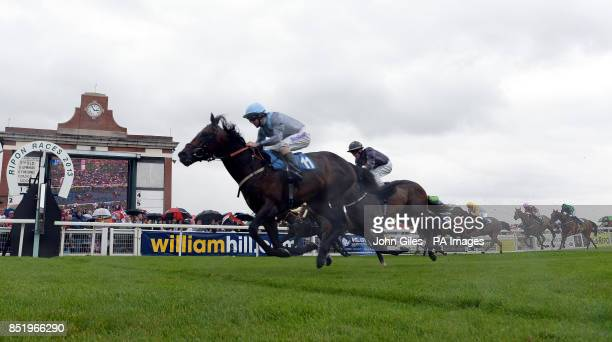 Clear Spring and Tom Eaves win the William Hill Silver Trophy Consolation for the Great St Wilfrid Stakes during the William Hill Great StWilfrid...
