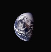 A clear view of Mexico and the Baja California peninsula on a third quarter Earth from the Apollo 13 spacecraft