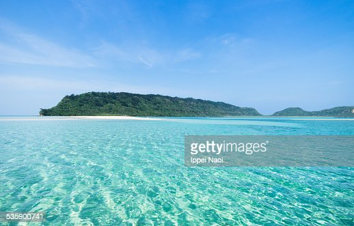Deserted Tropical Island: Clear Water And Deserted Tropical Islands Of Japan Stock