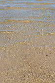 Clear Water at the Edge of the Sea at the Beach