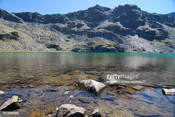 Clear water of an alpine lake.