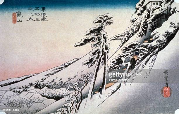 'Clear Weather after Snow at Kameyama' from 53 stations of Tokaido 1832 From a private collection