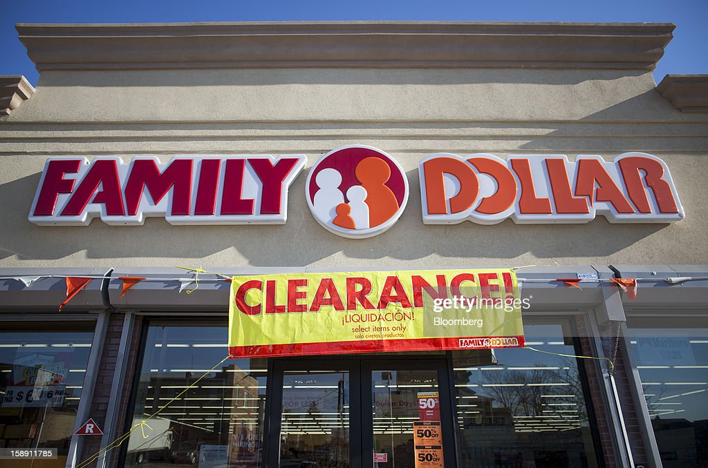 A clearance sign hangs at a Family Dollar Stores Inc. store in Belleville, New Jersey, U.S., on Thursday, Jan. 3, 2013. Family Dollar Stores Inc., the second-largest U.S. dollar store chain, tumbled the most in more than 12 years after cutting its fiscal 2013 earnings forecast, saying consumers are reluctant to spend on more-profitable discretionary items. Photographer: Michael Nagle/Bloomberg via Getty Images