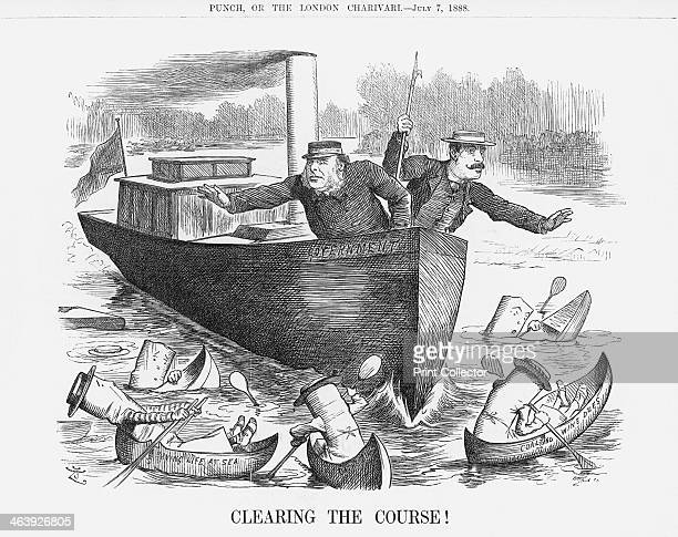 'Clearing the Course' July 7 1888 William Henry Smith First Lord of the Treasury and his Conservative colleague Charles Ritchie attempt to steer the...
