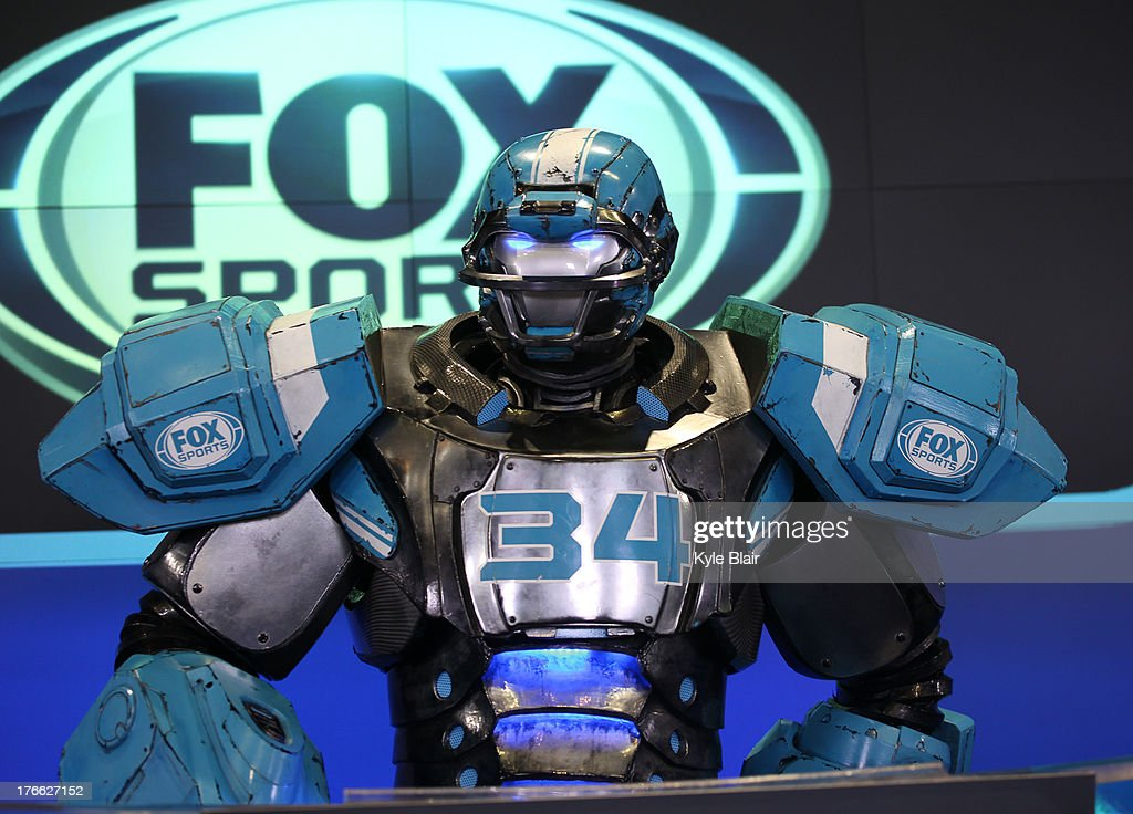 Cleatus The Robot rings the opening bell at the NASDAQ MarketSite on August 16, 2013 in New York City.