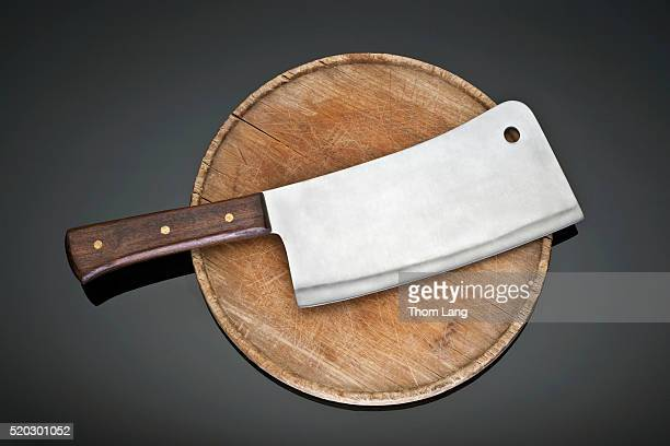 Cleaver on a cutting board