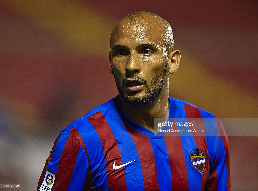 Clecildo Rafael of Levante UD looks on during the la Liga match between Levante UD and Villarreal CF at Ciutat de Valencia on August 24 2014 in...
