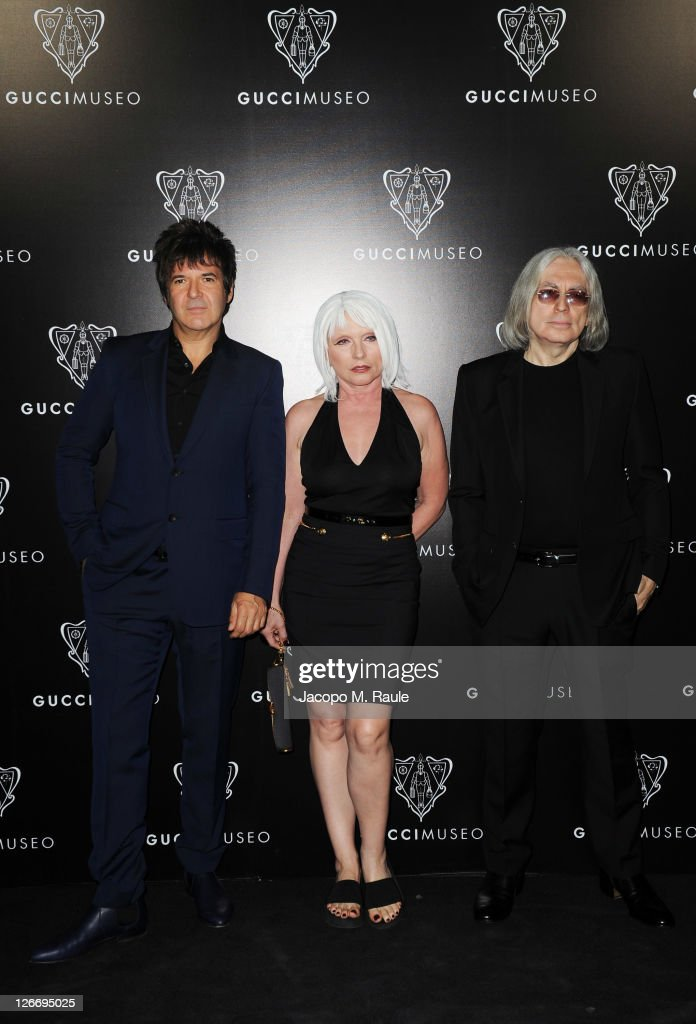 <a gi-track='captionPersonalityLinkClicked' href=/galleries/search?phrase=Clem+Burke&family=editorial&specificpeople=618427 ng-click='$event.stopPropagation()'>Clem Burke</a>, <a gi-track='captionPersonalityLinkClicked' href=/galleries/search?phrase=Debbie+Harry&family=editorial&specificpeople=209145 ng-click='$event.stopPropagation()'>Debbie Harry</a> and <a gi-track='captionPersonalityLinkClicked' href=/galleries/search?phrase=Chris+Stein&family=editorial&specificpeople=239488 ng-click='$event.stopPropagation()'>Chris Stein</a> of Blondie attend the Gucci Museum opening on September 26, 2011 in Florence, Italy.