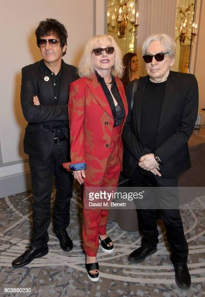 Clem Burke Debbie Harry and Chris Stein of Blondie attend the Nordoff Robbins O2 Silver Clef Awards at The Grosvenor House Hotel on June 30 2017 in...