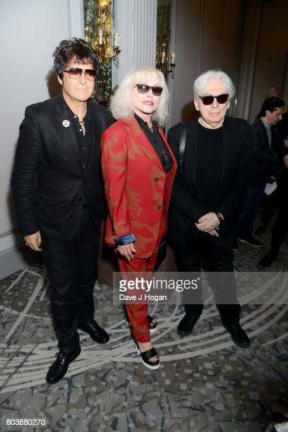 Clem Burke Debbie Harry and Chris Stein of Blondie attend the Nordoff Robbins' O2 Silver Clef Awards at The Grosvenor House Hotel on June 30 2017 in...
