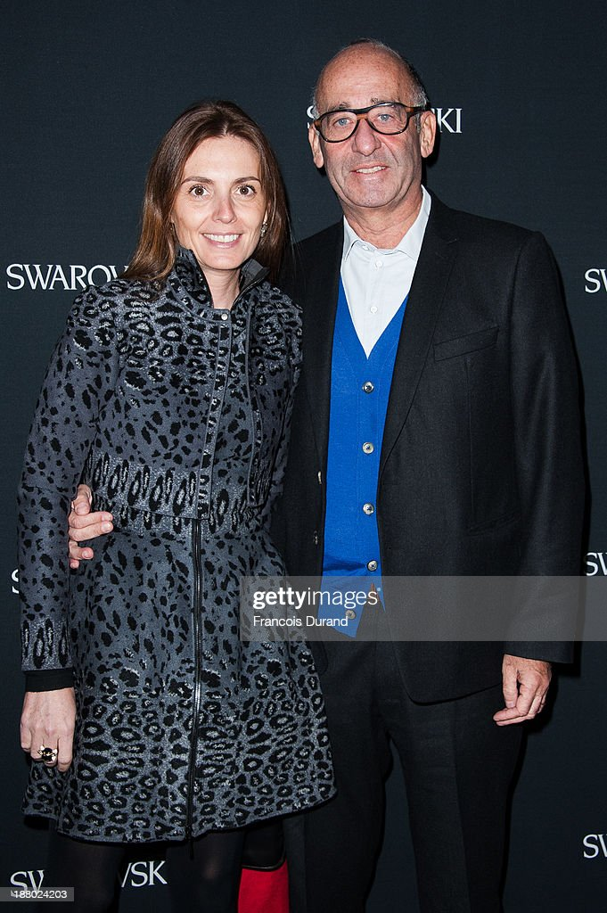 Clemence and Didier Krzentowski attend the Swarovski Dinner In Honor of the Bouroullec Brothers at Chateau de Versailles on November 14, 2013 in Versailles, France.