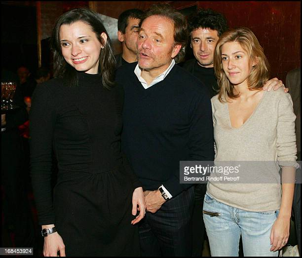 Clemence Boulouque Guillaume Durand Patrick Bruel and Amanda at 100th Episode Of 'Campus' Of Guillaume Durant At Le Cafe De L'Homme Restaurant At The...