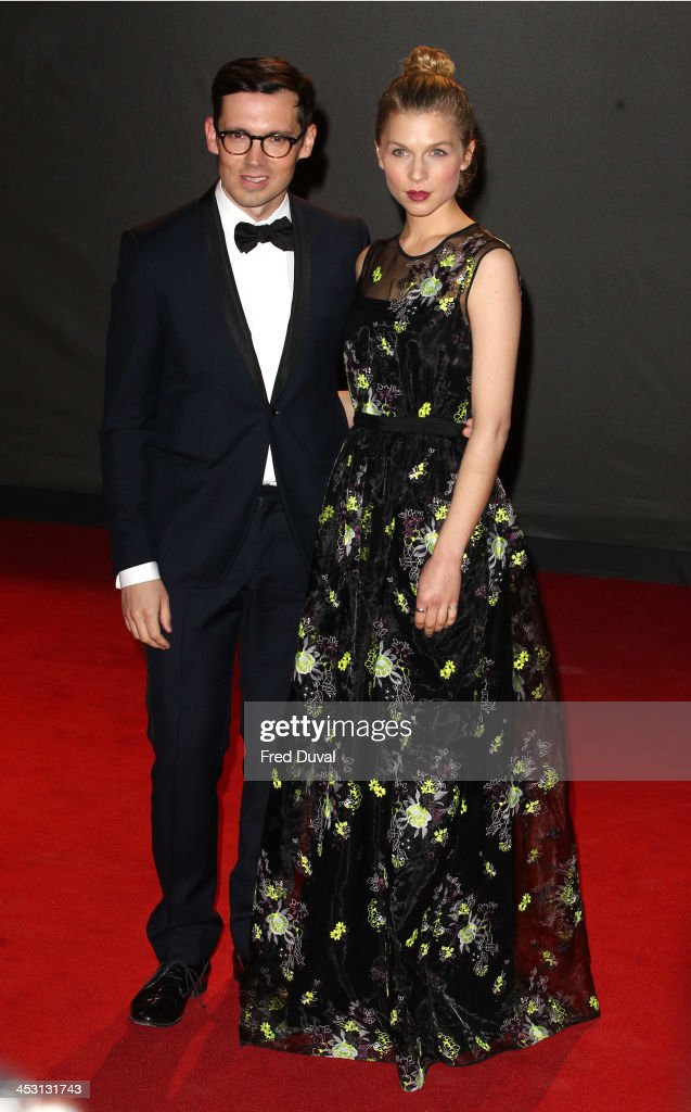 Clemence Poesy and Erdem Moralioglu attend the British Fashion Awards 2013 at London Coliseum on December 2, 2013 in London, England.