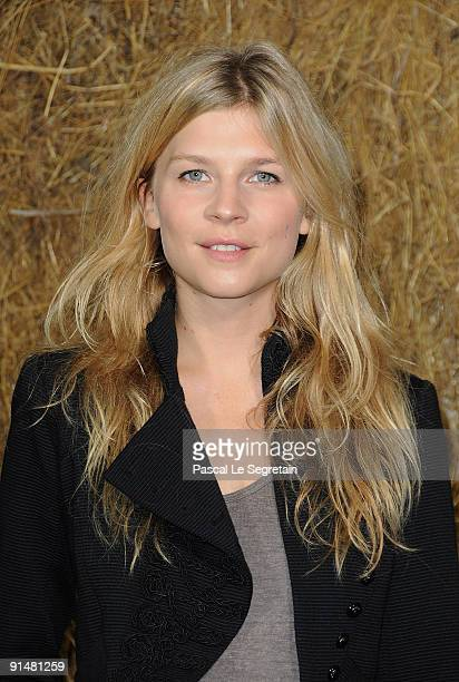 Clemence Poesy arrives to attend the Chanel Pret a Porter show as part of the Paris Womenswear Fashion Week Spring/Summer 2010 at Grand Palais on...