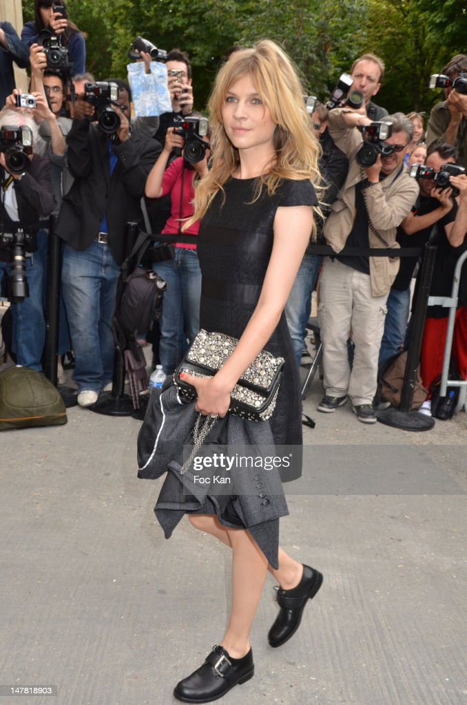 Clemence Poesy attend the Chanel show during Paris Fashion Week Haute Couture F/W 2012/13 at Le Grand Palais on July 3, 2012 in Paris, France.