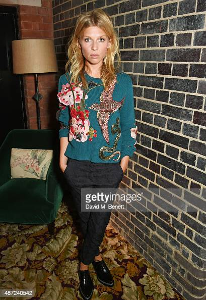 Clemence Poesy attends a dinner party hosted by Leith Clark to celebrate the latest issue of her biannual style bible 'Violet' featuring British...
