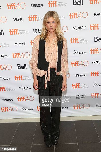 Clemence Poesy attends a photocall for 'The Ones Below' at TIFF Bell Lightbox during the 2015 Toronto International Film Festival on September 13...